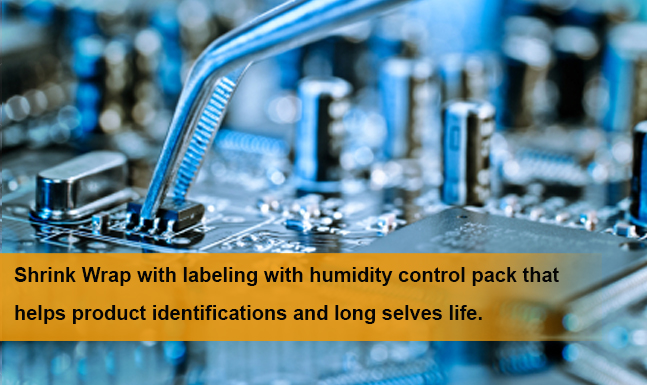 Shrink Wrap With labeling with humidity control pack